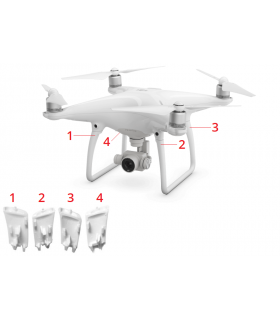 DJI Phantom 4 Pro - Landing Gear Antenna Cover 2
